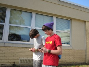 Sophomores Michael Schneider and Joel Diffendarfer agreed they text at inappropriate times.
