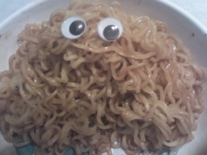 Ramen Noodle Monster Photo by Gabby Myers