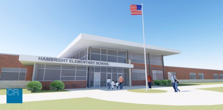 This graphic shows what the planned Hambright Elementary school renovations will look like.