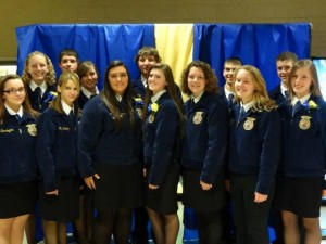 The 2012-2013 Manor FFA officers will hand over the reins to the new officer team at tonight's banquet.