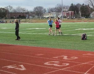 The Penn Manor track and field team practices on March 26.