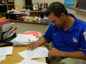 "Mr. Schueing- Teacher ""Recruiting for F&M baseball across the country, playing baseball locally, going on a vacation with wife (Tybee, Georgia) basically relaxing."""