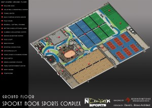 The new Spooky Nook sports complex contains courts for a number of sports and hosts many sports teams.