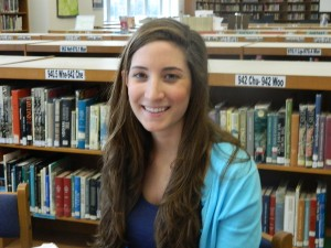 "Sarah Evarts-Senior ""Working at the pool and teaching swimming lessons."""