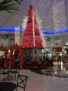 The tree and decorations at the center of Park City Mall. (Photo by Cassie Kreider)
