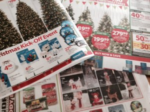 Christmas ads add weight to Lancaster's Sunday Newspaper. (Photo by Cassie Kreider)