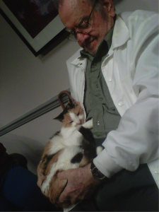"Maisie with her new owner, ""Daddy Ray."" (Photo provided)"