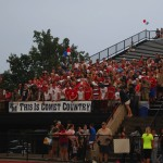 Comet Nation, Penn Manor's student section, fills the stands before kickoff against Cedar Cliff on September 4.