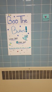 """Students were encouraged to wear blue on Friday, October 30 to """" Boo The Bullies."""""""