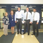 The high school principals will try looping for at least the next two years. From left to right are Mrs. Marsh, Ms. O'Connor, Dr. Gale, Dr. D'Amico and Mr. Eby.